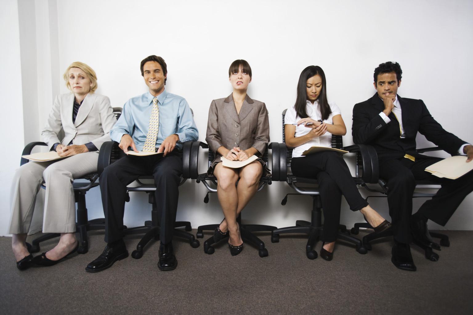 Il colloquio di lavoro in sala d'attesa